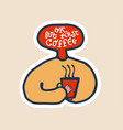 but first coffee colorful hand written coffee vector image