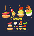 canape set designer vector image vector image