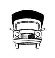 car vintage transport travel vacation sketch vector image vector image