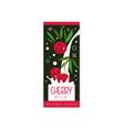 cherry milk logo original design label for vector image vector image