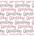 christmas seamless background with handwritten vector image