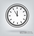 Clock icon isolated black on white background vector image vector image