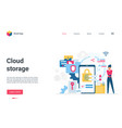 cloud storage cyber protection concept landing vector image