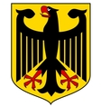 coat of arms of Germany vector image vector image