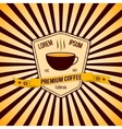 coffee banner and logo with background vector image vector image