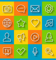 communication flat icon set vector image
