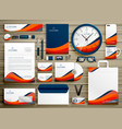 corporate identity business template design set vector image