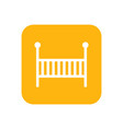 cot flat color icon baby items for newborns vector image vector image