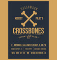crossed bones halloween party abstract vector image