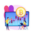 cryptocurrency trading desk abstract concept vector image vector image