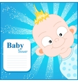 Cute Baby Shower invitation template vector image