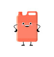 cute cartoon red detergent character vector image vector image