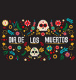 day dead poster vector image
