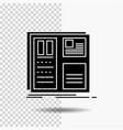 design grid interface layout ui glyph icon on vector image vector image