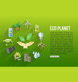 Eco planet flat style design concept with ecology vector image