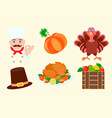 elements for graphic design for thanksgiving vector image vector image