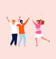festive friends woman man party time happy adult vector image vector image