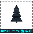 fir tree icon flat vector image