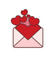 full of love letter graphic vector image vector image