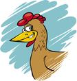 funny farm hen vector image vector image