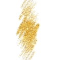 Gold Glitter Sparkles Bright Confetti background vector image