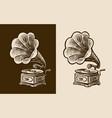 gramophone sketch retro music nostalgia vintage vector image vector image