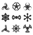 hand fidget spinner extra shape icon set vector image