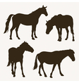 Horse silhouettes vector | Price: 1 Credit (USD $1)