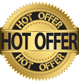 Hot offer Gold label vector image
