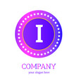 i letter logo design i icon colorful and modern vector image vector image