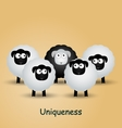 Leader individuality uniqueness success vector image vector image