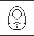 lock line icon vector image vector image