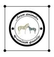 logos and badges farm animals vector image
