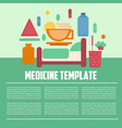 medicine template flat style vector image