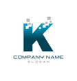 modern letter k vector image vector image