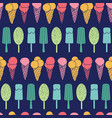 navy ice cream stripes seamless pattern vector image vector image