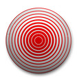 pain circle red icon vector image vector image