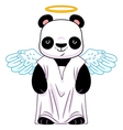 Panda in angel suit vector image vector image