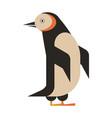 penguin aquatic bird geometric icon in flat vector image vector image