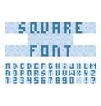 pixel square font alphabet vector image