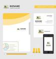 presentation on laptop business logo file cover vector image
