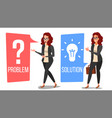 problem concept thinking woman problem vector image