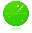 radar screen isolated vector image vector image