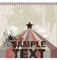 Retro Circus Tent Background vector image
