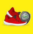 running shoes sport competition concept vector image vector image
