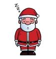 Santa Claus sleeping and snoring vector image vector image