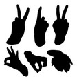 set hand vector image