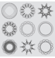 Set of guilloche frames Spirographic pattern for vector image
