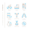 set of sport icons and concepts in mono thin line vector image vector image