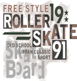 Skateboard Text Design vector image vector image